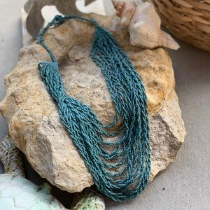 🌅Beach Vibes Turquoise MultiStrand Necklace 🌅
